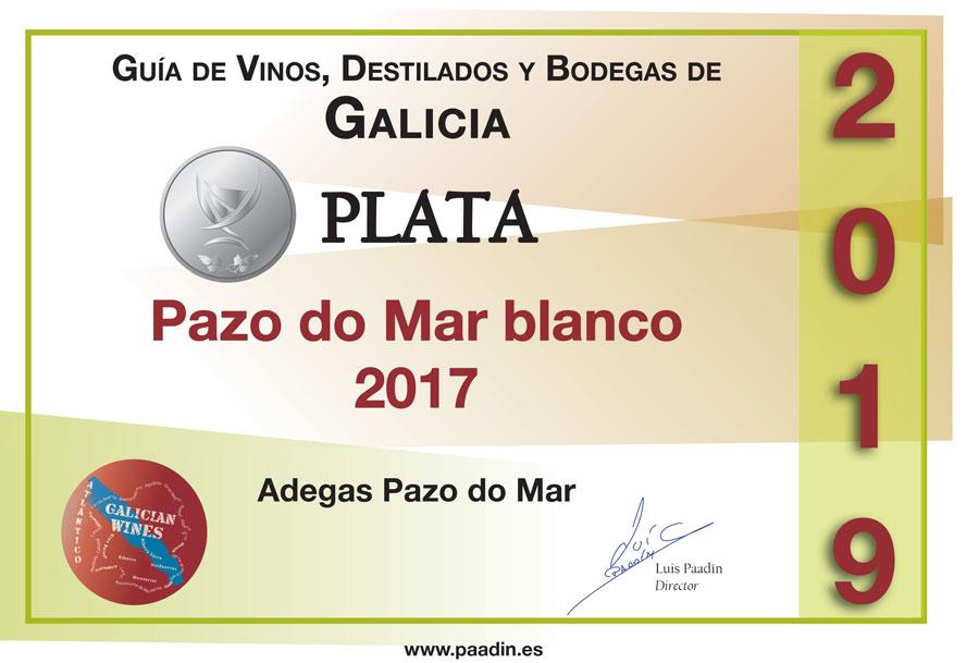 Medalla de Plata 2019 Pazo do Mar Blanco 2017 - Guía de Vinos, Destilados y Bodegas de Galicia
