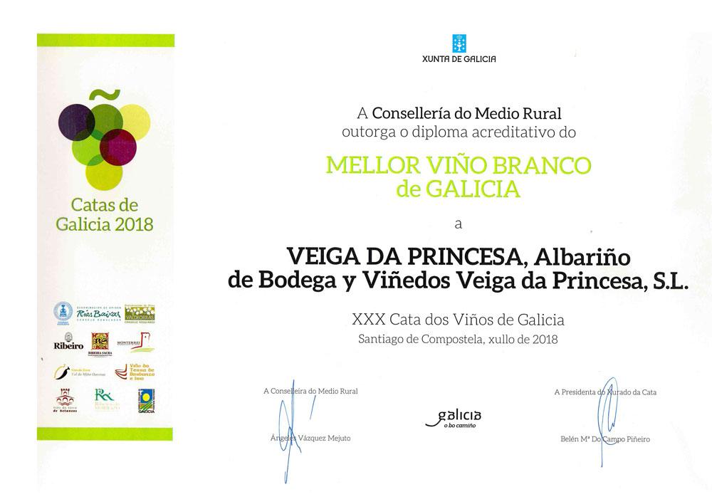 Mellor Viño Branco de Galicia 2018: Veiga da Princesa