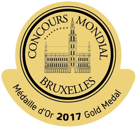 Medalla de oro del concurso Mundial del Bruselas 2017
